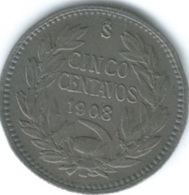 Chile - 1908 So - 5 Centavos - KM155.2a - Chile