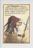Les Poulpiquets Ou Poulpicans (légende Bretagne) Génie Forêt - Le Corre Illustrateur (cp Vierge) - Fairy Tales, Popular Stories & Legends