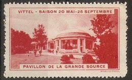 France - Vittel  Tourist Publicity Poster Stamp - Commemorative Labels