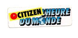 Autocollant Citizen L'heure Du Monde - Format : 15.5x5 Cm - Aufkleber
