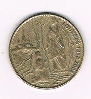 //  PENNING  SAINTE  BERNADETTE -  LOURDES 1858 - 2008 - Elongated Coins