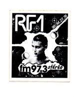 Autocollant RF1 Fm 97.3 Stéréo - Format : 11.5x9.5 Cm - Aufkleber