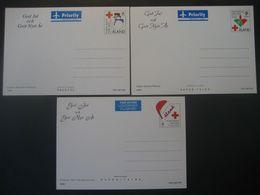 Alandinseln- 3 Ganzsachen Weihnachtskarten - Aland