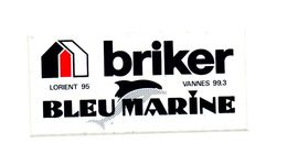 Autocollant Briker Lorient 95 Bleu Marine - Format : 13x6 Cm - Stickers