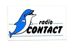 Autocollant Radio Contact - Format : 13.5x8 Cm - Aufkleber