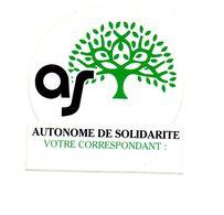 Autocollant Autonome De Solidarité Votre Correspondant : - Format : 10x11 Cm - Stickers