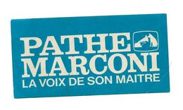 Autocollant Pathe Marconi La Voix De Son Maître - Format : 16x8 Cm - Stickers