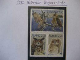 """Alandinseln- 1996 WWF Weltweiter Naturschutz """"Uhu"""" Aus Markenheftchen - Aland"""