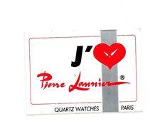 Autocollant J'aime Pierre Lannier Quartz Watches Paris - Format : 10.5x7.5 Cm - Stickers