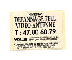 Autocollant Immédiat Dépannage Télé Vidéo-antenne Paris - Format : 8.5x6 Cm - Aufkleber