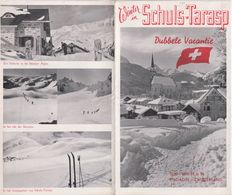 OLD BROCHURE - LEAFLET - SWITZERLAND - 1930'S - WINTER IN SCHULS TARASP - 12 X 20 CM - Reiseprospekte