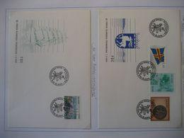 Alandinseln- 1984 2 FDC Belege Freimarken- Flagge- Landkarte- Siegel, Beleg 50 Jahre Reedereivereinigung - Aland