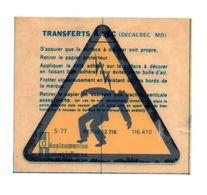 Autocollant Transferts à Sec Danger électrique - Format : 11.5x10 Cm - Stickers