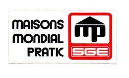 Autocollant Maisons Mondial Pratic SGE - Format : 7.5x15 Cm - Aufkleber