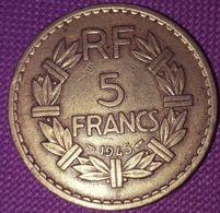 FRA NKRIJK: 5 FRANCS 1945 C ALUMINIUM-Br KM 888b3 - France