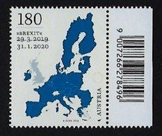"""2020 AUSTRIA """"BREXIT"""" SINGOLO CON CODICE A BARRE MNH - 1945-.... 2. Republik"""