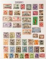 WORLD COLLECTION Late 19th Century To 2000's Mint & Used Stamps In Two Albums, Includes UAE 1977 Crest Set (ex 35f) Mint - Postzegels