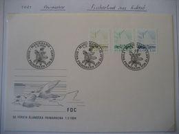Alandinseln- 1984 FDC Beleg Mit Freimarken Fischerboot Aus Eckerö - Aland