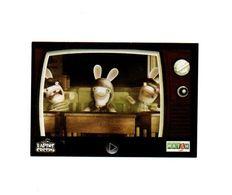 Autocollant Supermarché Match Lapins Crétins V4 - Format : 5.5x8. Cm - Stickers