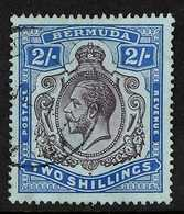 REVERSED WATERMARK RARITY 1918-22 KGV 2s Purple And Blue/blue With Multiple Crown CA Watermark REVERSED, SG 51bx, Very F - Bermudes