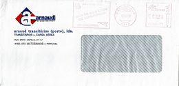 ARNAUD TRANSITÁRIOS ,  Transport ,  Freight Forwarders ,  DA CARAVELA AO CONCORDE  Mechanical Meter , Matosinhos 2002 - Postmark Collection