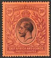 1912 - 1921 20r Black And Purple On Red, Wmk MCA, Geo V, SG 59, Superb Mint. For More Images, Please Visit Http://www.sa - Verlage