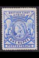 BRITISH EAST AFRICA 1897 1r Bright Ultramarine, Queen Victoria, SG 92b, Very Fine Mint, Brilliant Colour. For More Image - Verlage