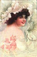 Illustrateur Guerzoni Femme Cyclamen (2723-1 - Other Illustrators