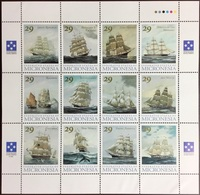 Micronesia 1993 Clipper Ships Sheetlet MNH - Micronesia
