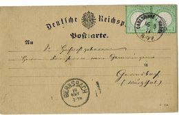 1874, Nr. 23a, Postkarte , Mi. 150.- +, A3925 - Germany