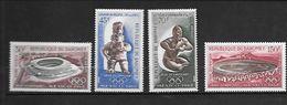 TIMBRE NEUF DU DAHOMEY DE 1968 N° MICHEL 360/63 - Benin – Dahomey (1960-...)