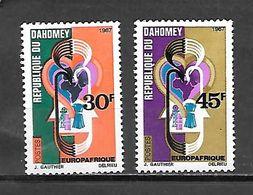 TIMBRE NEUF DU DAHOMEY DE 1967 N° MICHEL 319/20 - Benin – Dahomey (1960-...)