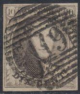 """Médaillon - N°6B Margé (papier Côtelé) Obl P119 """"Tongres"""". Superbe ! - 1851-1857 Medaillen (6/8)"""
