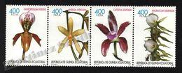 Equatorial Guinea - Guinée Équatoriale 1999 Edifil 255-258 Orchids - Strip - MNH - Equatoriaal Guinea