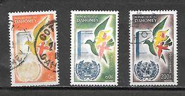 TIMBRE OBLITERE DU DAHOMEY DE 1961 N° MICHEL 187/89 - Benin – Dahomey (1960-...)