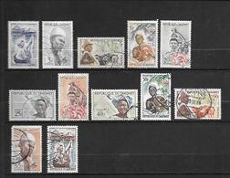 TIMBRE OBLITERE DU DAHOMEY DE 1963 N° MICHEL 200/11 - Benin – Dahomey (1960-...)