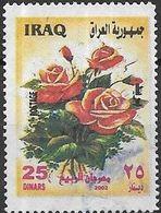 IRAQ 2002 Flowers - 25d - Orange Roses FU - Iraq