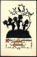 A7440 - Plischke Scherenschnitt Silhouette - Engel Angel - Verlag Werner Klotz - Silhouette - Scissor-type
