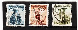 CAO40 ÖSTERREICH 1952 Michl 978/80 Gestempelt SIEHE ABBILDUNG - 1945-.... 2. Republik
