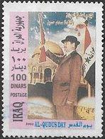 IRAQ 2002 Jerusalem Day - 100d Pres. Hussain Wearing Hat FU - Iraq