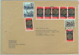 84513 -  ETHIOPIA  - Postal History -   COVER To ITALY  1968 - WATER DAM Coins - Ethiopie