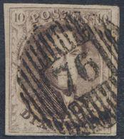 """Médaillon - N°10A Margé + 1 Voisin Obl D76 """"Assesse"""". Superbe / COBA : 30 - 1858-1862 Medaillen (9/12)"""