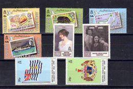 Océan Indien 1990, Expo«London'90», Reine-Mère Elisabeth, Antigua, 90 / 93 – 106 / 109**, Cote 47 € - Africa (Varia)