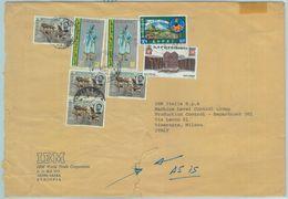 84513 -  ETHIOPIA - Postal History - COVER To ITALY  1975 - Animals ARCHITECTURE - Ethiopie
