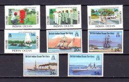 Océan Indien 1991, Navires Visiteurs, Année Complète 110 / 117**, Cote 33,50 € - Africa (Varia)