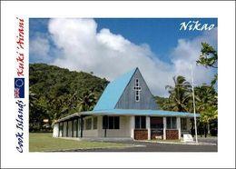 Cook Islands Rarotonga Nikao Church New Postcard Cookinseln AK - Cook Islands