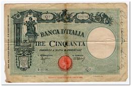 ITALY,50 LIRE,1943,P.64,REPAIRED. - 50 Liras