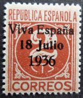 Timbre Local Patriotique De Santa Crux De Tenerife N° 4 Neuf Sans Charnière - Emissions Nationalistes