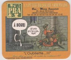Sous Bock De Biere De La Petite Brasserie ARDENNAISE  Théme BD Poje De LM Carpentier - Sotto-boccale