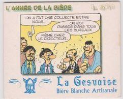 Sous Bock De Biere De La  Brasserie La Gesvoise  Théme BD Poje De LM Carpentier - Sotto-boccale